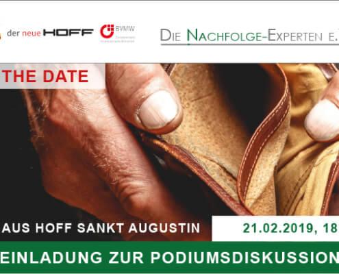 Veranstaltung am 21.02.2019 der Nachfolgeexperten - Strategien zur Sicherung des Unternehmer-Ruhestandes